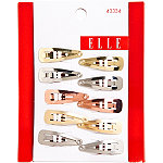 ElleMixed Metal Snap Clips 10 Ct