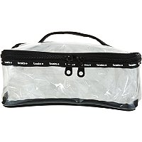 BasicsClear Train Case Cosmetic Bag