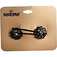KarinaBlack Baroque Bobbies 2ct