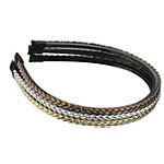 Braided Metallic Headband 3 ct.