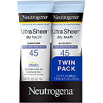 NeutrogenaUltra Sheer SPF 45 Twin Pack