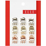 ElleMini Tri-gold Metal Jaw Clip 9 Count