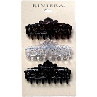 Riviera3 Count Filigree Claw Clip