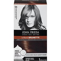 Foam Hair Color on John Frieda Precision Foam Hair Color Medium Natural Brown Ulta Com
