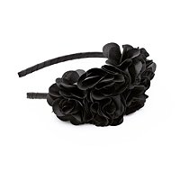 KarinaLarge Black Side Flower Headband