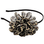 KarinaBrown Animal Print Flower Headband