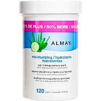 AlmayMoisturizing Eye Makeup Remover Pads 120 Ct