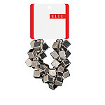 ElleMetallic Square Beads Ponytail Holder