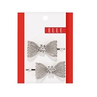 ElleMesh Bow Bobby Pin 2 Ct