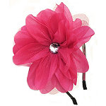 RivieraOrganza Diamante Flower Headband