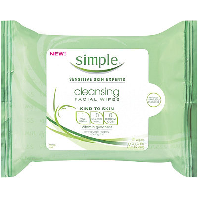 SimpleKind To Skin Cleansing Facial Wipes 25 Ct
