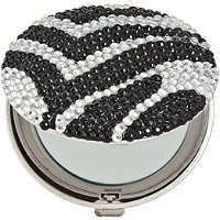 SatinaZebra Bling Compact Mirror