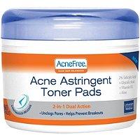 Acne Free Astringent Toner Pads 60 Ct
