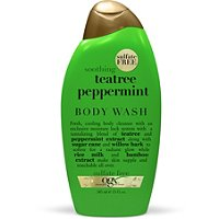 Organix Soothing Teatree Peppermint Cooling Body Wash, Organix body wash, Organix shower gel, body wash, shower gel