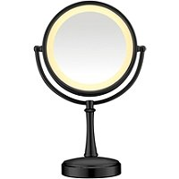 ConairBlack Touch Control Lighted Makeup Mirror
