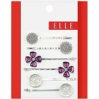 ElleAssorted Silver Bobby Pins 6 Ct