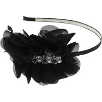 Capelli New YorkChiffon Side Petal Metal Headband