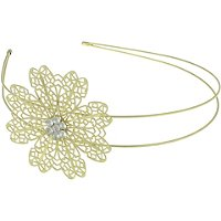 Capelli New YorkMetal Flower w/Gem Center Headband