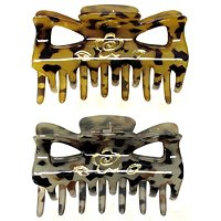 RivieraPainted On Flower Claw Clip 2 Ct