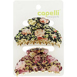 Capelli New YorkFloral Print Claw Clip 2 Ct