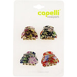 Capelli New YorkFloral Print Claw Clip 4 Ct