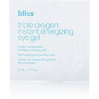 BlissFREE Triple Oxygen Instant Energizing Eye Gel sample with any Bliss purchase