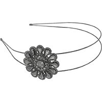 Capelli New YorkGunmetal Gem Flower Headband