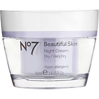 BootsNo 7 Beautiful Skin Night Cream for Dry/Very Dry Skin