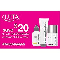 DermalogicaGet $20 toward your next purchase of Dermalogica with any $65 Dermalogica purchase