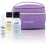 PhilosophyFREE Philosophy 4pc Train Case Set with any $50 Philosophy Skincare purchase