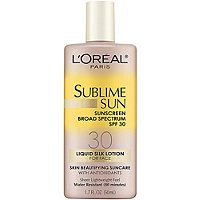 L'OrealSublime Sun Liquid Silk Lotion SPF 30 For Face