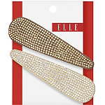 ElleLarge Studded Snap Clips 2 Ct