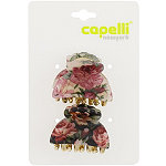 Laminated Flower Print Claw Clip 2 Ct