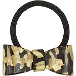 Capelli New YorkLaminated Bow Ponytail Holder