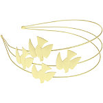 Capelli New YorkTriple Row Metal Bird Headband