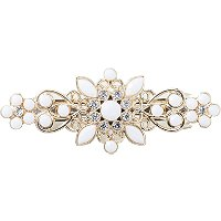 KarinaWhite Beaded Barrette