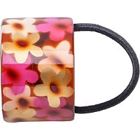 KarinaFlower Print Ponytail Holder