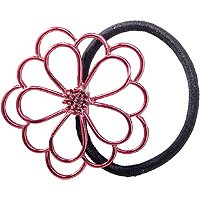KarinaMetal Flower Rose Ponytail Holder