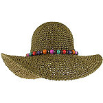 Bead Trim Floppy Hat