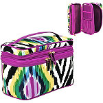 I Think Ikat Wild Double Zip Traincase