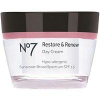 No 7 Restore & Renew Day Cream SPF 15