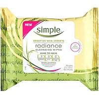SimpleKind To Skin Radiance Cleansing Wipes 25 Ct