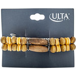 ULTADouble Row Wooden Bead Barrette