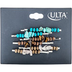 ULTAStone and Wooden Bead Bobby Pins 6 Count