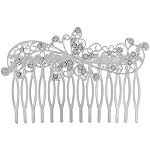 Capelli New YorkSilver Filagree Butterfly Comb