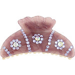 Capelli New YorkPurple Marble Gem Claw Clip