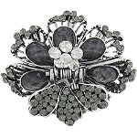 Capelli New YorkBlack Flower Claw Clip