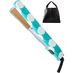 Ultra CHI Teal Dot 1 Inch Flat Iron