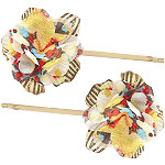 KarinaFlower Print Bobby Pin 2 Ct