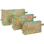 All For ColorPaisley Breeze 3 Piece Cosmetic Bag Set